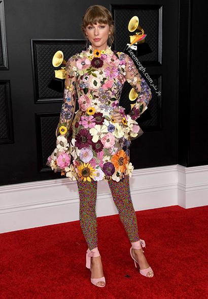مدل لباس در جوایز گرمی 2021 Grammy - تیلور سویفت Taylor Swift