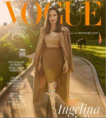 عکس های جدید آنجلینا جولی Anjelina Jolie روی مجله مد ووگ Vogue