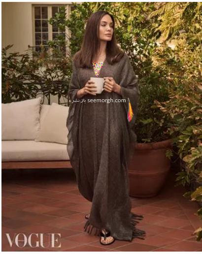 جدیدترین عکس های مجله ووگ از آنجلینا جولی Anjelina Jolie درون خانه اش