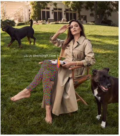جدیدترین عکس های آنجلینا جولی Anjelina Jolie روی مجله مد ووگ Vogue