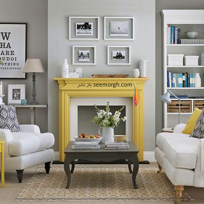 با رنگ زرد یک نقطه کانونی ایجاد کنید,دکوراسیون اتاق نشیمن به رنگ سال با 6 ایده جالب و زیبا