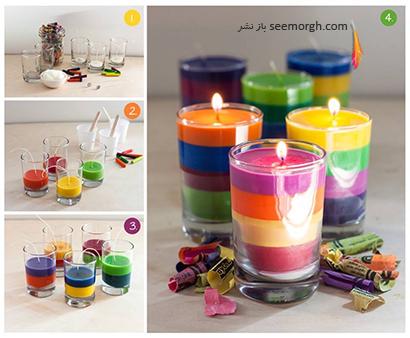 آموزش شمع رنگین کمانی, آموزش شمع سازی, آموزش درست کردن شمع رنگین کمانی