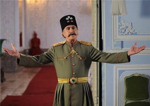 ایرج راد در نقش ناصرالدین شاه در سریال امیرکبیر