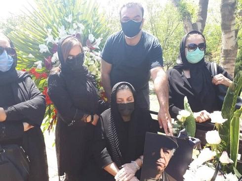 مهوش وقاری در خاکسپاری همسرش محسن قاضی مرادی