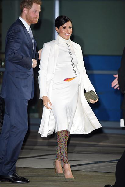 بهترین مدل لباس بارداری مگان مارکل Meghan Markle - مدل شماره 9