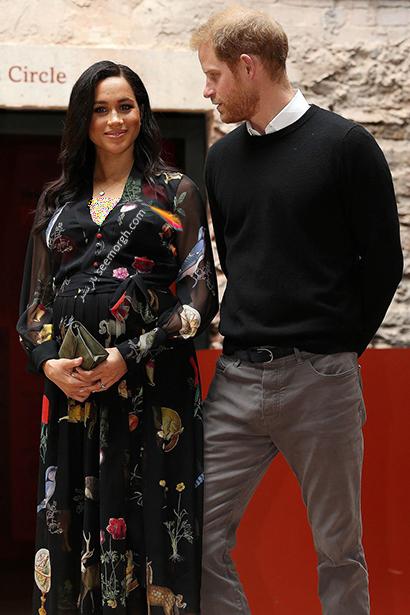 بهترین مدل لباس بارداری مگان مارکل Meghan Markle - مدل شماره 7