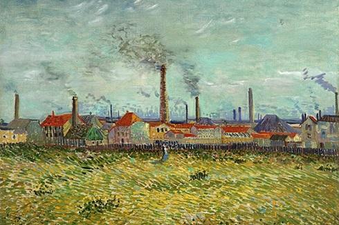 نقاشی «کارخانه ها در کلشی»