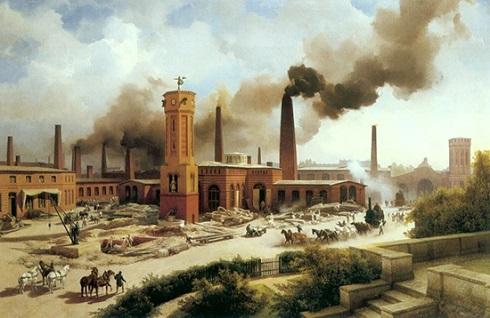 تابلو نقاشی «کارخانه فولاد بورسیگ»