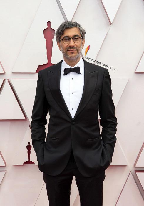 رامین بحرانی فیلمساز ایرانی روی فرش قرمز اسکار 2021