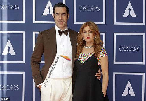ساشا بارون کوهن و همسرش ایسلا فیشر در اسکار 2021