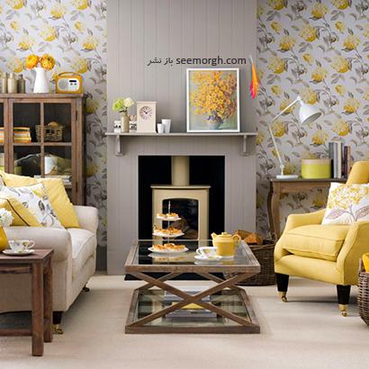 گل های زرد را به دکوراسیون اتاق نشیمن تان اضافه کنید,دکوراسیون اتاق نشیمن به رنگ سال با 6 ایده جالب و زیبا