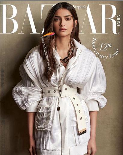 جدیدترین عکس های سونام کاپور Sonam Kapoor روی مجله مد Harpers Bazaar - عکس شماره 7