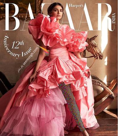 جدیدترین عکس های سونام کاپور Sonam Kapoor روی مجله مد Harpers Bazaar - عکس شماره 6