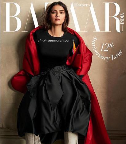 جدیدترین عکس های سونام کاپور Sonam Kapoor روی مجله مد Harpers Bazaar - عکس شماره 5
