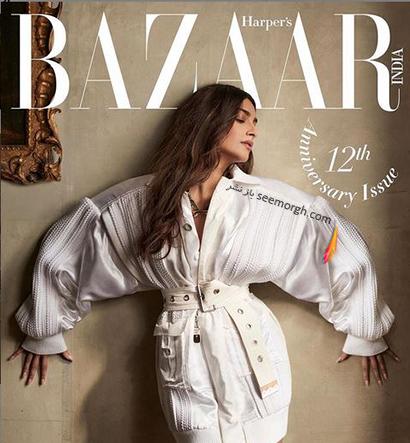 جدیدترین عکس های سونام کاپور Sonam Kapoor روی مجله مد Harpers Bazaar - عکس شماره 3