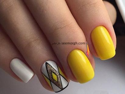 بهترین مدل طراحی ناخن به رنگ زرد - مدل شماره 8