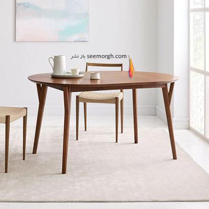 میز ناهارخوری بیضی,9 مدل میز ناهارخوری برای فضاهای کوچک,میز ناهارخوری برای فضاهای کوچک,میز ناهارخوری برای آپارتمان های کوچک