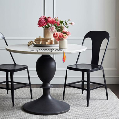 میز ناهارخوری با رویه سنگی,9 مدل میز ناهارخوری برای فضاهای کوچک,میز ناهارخوری برای فضاهای کوچک,میز ناهارخوری برای آپارتمان های کوچک