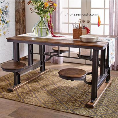 میز ناهارخوری به سبک کافه تریا,9 مدل میز ناهارخوری برای فضاهای کوچک,میز ناهارخوری برای فضاهای کوچک,میز ناهارخوری برای آپارتمان های کوچک