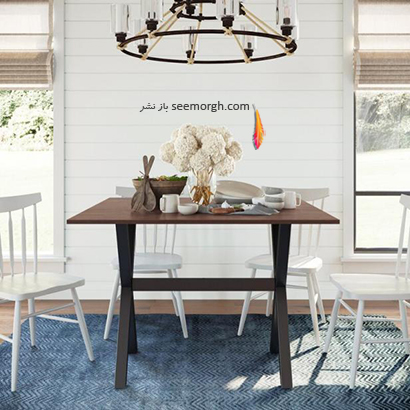 میز ناهارخوری با پایه تاشو,9 مدل میز ناهارخوری برای فضاهای کوچک,میز ناهارخوری برای فضاهای کوچک,میز ناهارخوری برای آپارتمان های کوچک