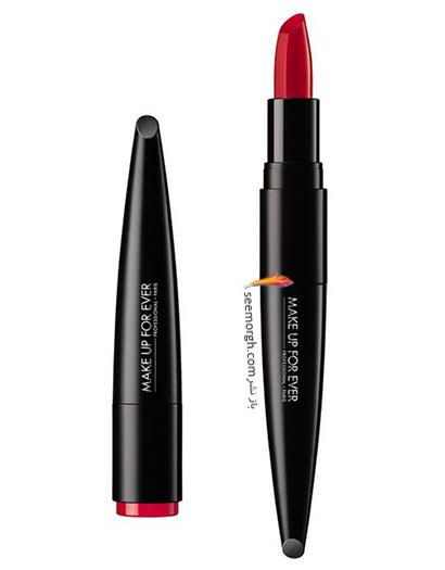 رژ لب قرمز براق برای پوست تیره و برنزه تابستانی