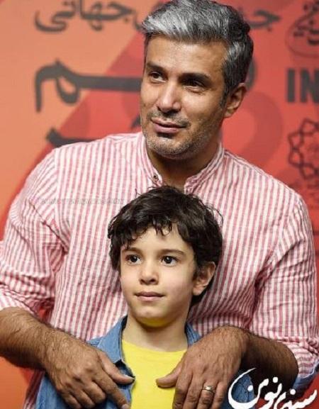 آریا عظیمی نژاد و پسرش در جشنواره جهانی فیلم فجر + عکس و بیوگرافی