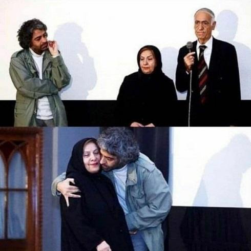 بابک خرمدین در کنار پدر و مادرش