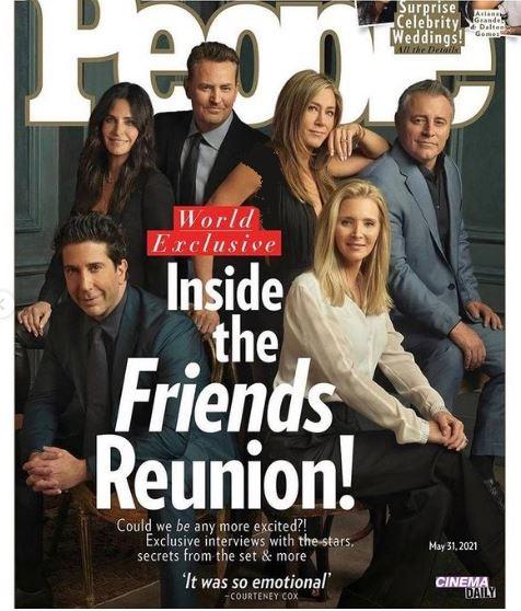 عکس جدید بازیگران سریال فرندز در جلو مجله پیپل
