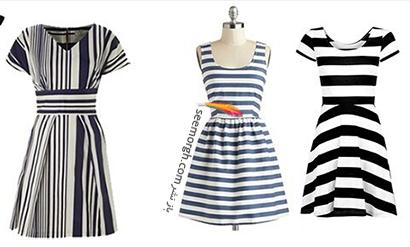 برای لاغر تر به نظر رسیدن از پوشیدن لباس هایی با خطوط افقی خودداری کنید,چگونه لباس بپوشیم تا لاغر تر به نظر برسیم؟