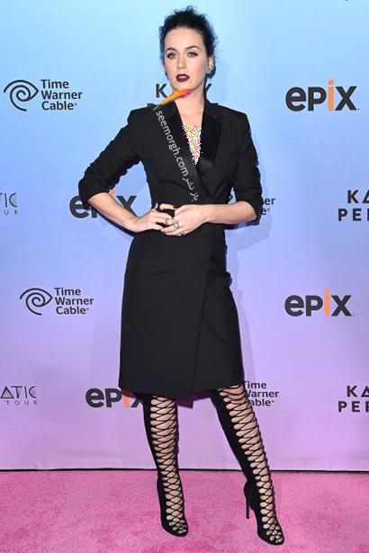 ست کردن لباس شب مشکی به سبک کیتی پری Katy Perry,لباس شب,ست کردن لباس شب, لباس شب مشکی, ست کردن لباس شب مشکی