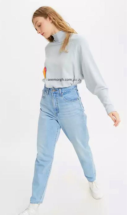 شلوار جین مام استایل از برند لیوایز Levi's, 7 مدل برتر شلوار جین مام استایل در دنیای مد 2021