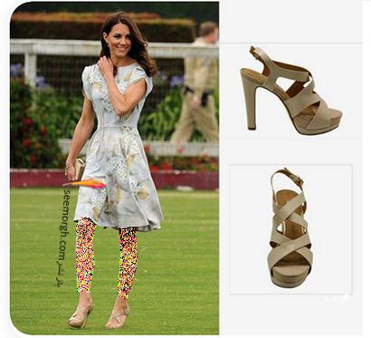 مدل کفش تابستانی به سبک کیت میدلتون Kate Middleton - مدل شماره 1