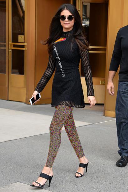 ست کردن لباس شب مشکی به سبک سلنا گومز Selena Gomez,لباس شب,ست کردن لباس شب, لباس شب مشکی, ست کردن لباس شب مشکی