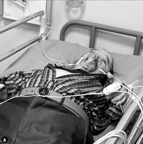 اسدالله یکتا در بیمارستان