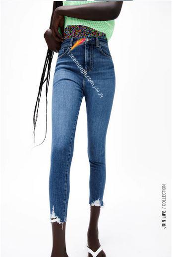 جدیدتین مدل شلوار جین زنانه زارا Zara برای بهار و تابستان 2021 - مدل شماره 13
