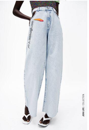 جدیدتین مدل شلوار جین زنانه زارا Zara برای بهار و تابستان 2021 - مدل شماره 12