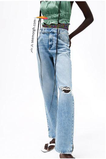 جدیدتین مدل شلوار جین زنانه زارا Zara برای بهار و تابستان 2021 - مدل شماره 11
