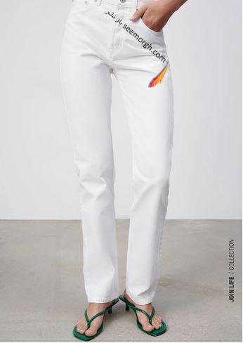 جدیدتین مدل شلوار جین زنانه زارا Zara برای بهار و تابستان 2021 - مدل شماره 9