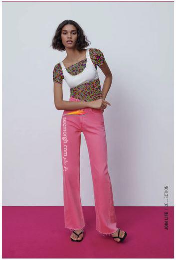 جدیدتین مدل شلوار جین زنانه زارا Zara برای بهار و تابستان 2021 - مدل شماره 6