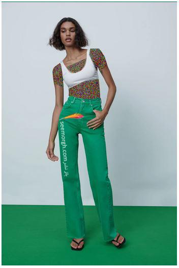 جدیدتین مدل شلوار جین زنانه زارا Zara برای بهار و تابستان 2021 - مدل شماره 5