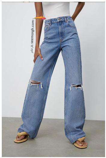 جدیدتین مدل شلوار جین زنانه زارا Zara برای بهار و تابستان 2021 - مدل شماره 3