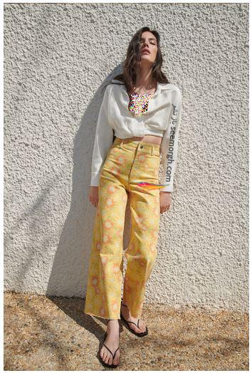 جدیدتین مدل شلوار جین زنانه زارا Zara برای بهار و تابستان 2021 - مدل شماره 1