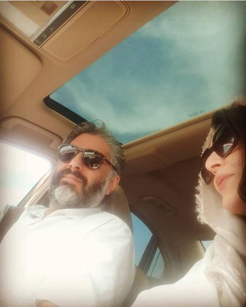 عکس ساره بیات و همسرش علیرضا افکاری