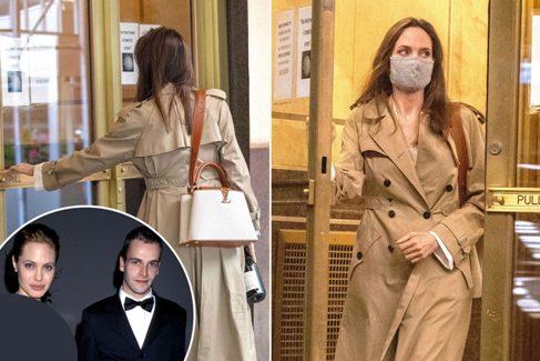 عکس های لو رفته از حضور آنجلینا جولی در منزل همسر سابقش