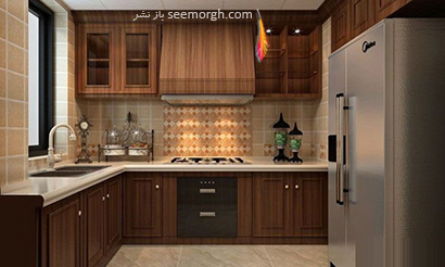 آمیختن مواد با یکدیگر,جدیدترین مدل های دکوراسیون آشپزخانه