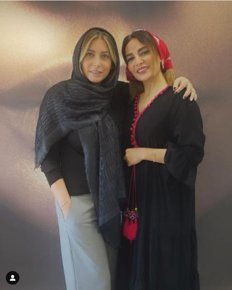 عکس فریبا نادری و دکتر زیبایی اش