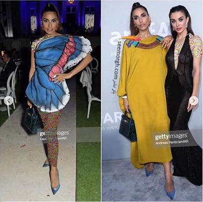 مدل لباس فرنوش حمیدیان Farnoosh Hamidian در مراسم amfAR 2021