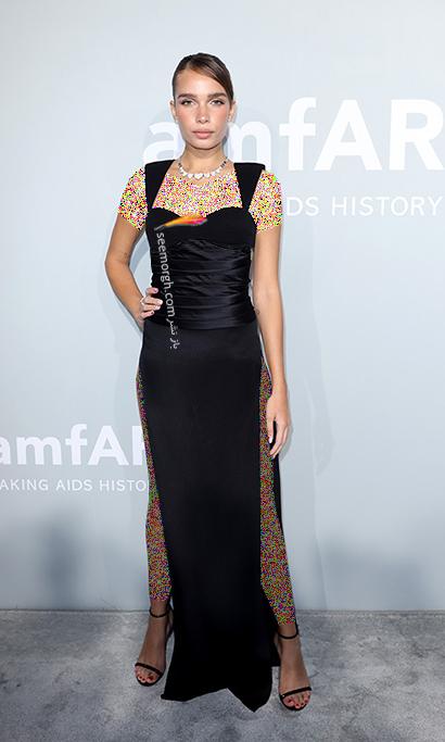 مدل لباس هانا کراس Hana Cross در مراسم amfAR 2021