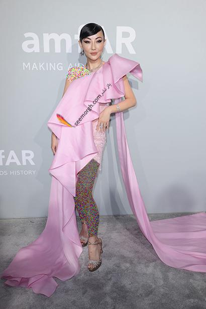 مدل لباس جسیکا وانگ Jessica Wang در مراسم amfAR 2021
