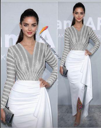 مدل لباس مه لقا جابری Mahlagha Jaberi در مراسم amfAR 2021